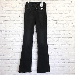 Joe's Hi High Rise Honey Black Jeans Bootcut New